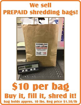 Post image for Save with PREPAID shredding bags!